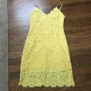Lulus yellow lace dress